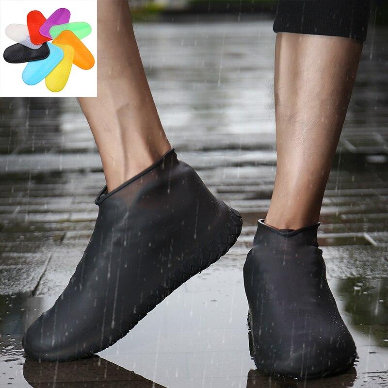 Утепленная обувь, покрытие из силиконового геля, водонепроницаемая обувь для дождя, многоразовые резиновые эластичные накладки для обуви, Нескользящие
