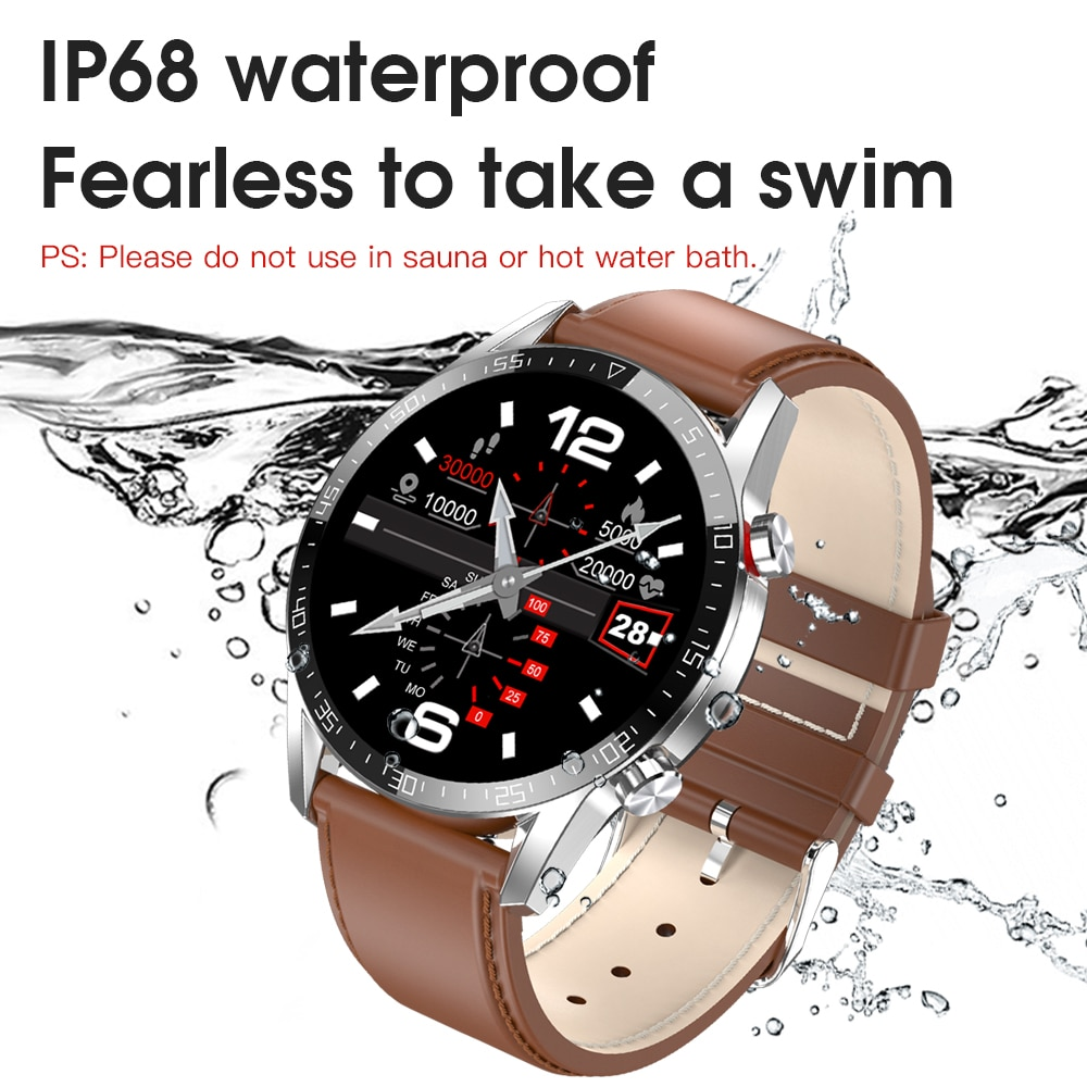 For Android Phone Iphone IOS Huawei Xiaomi Smart Watch Men Android 2021 IP68 Waterproof Smartwatch Android ECG Smart Watch