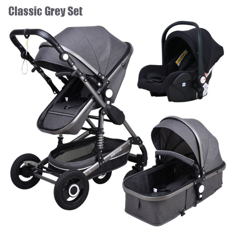 Baby Stroller 3 in 1 Portable Travel Baby Carriage New born Luxurious High Landscape Baby Car Babyfond enlarge