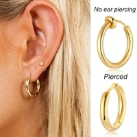 circle hoop earrings stainless steel small gold filled round huggie pierced hoops for women girls