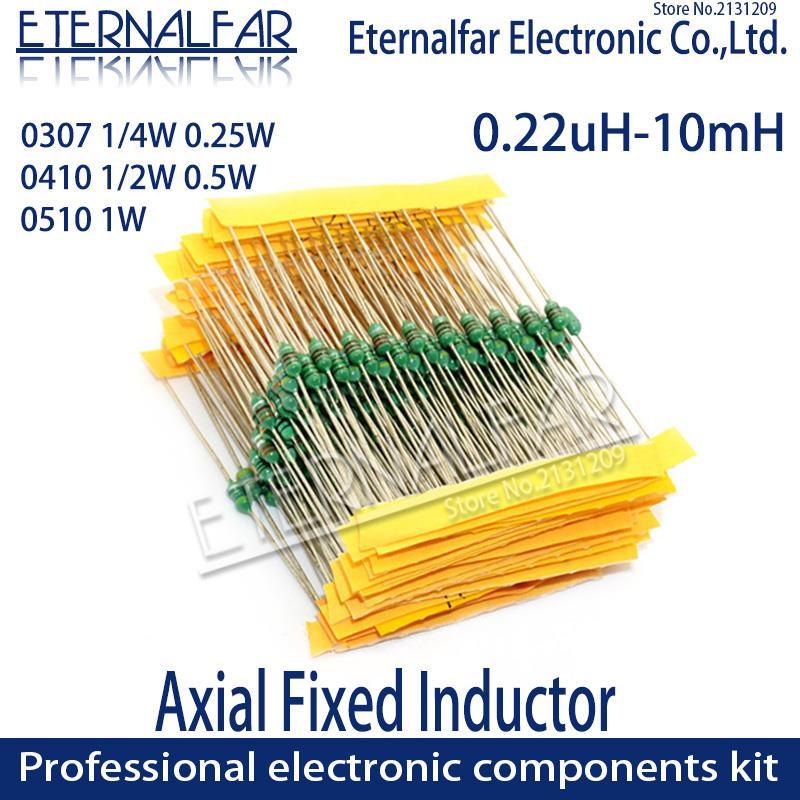 0307 1/4W 0,25 W 8.2UH 8R2K 82UH 820K 8,2 82 UH inductores de anillo de Color de código DIP inductancia Radios de TV inducción electromagnética 10UH
