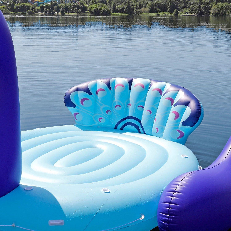6 Person Riesige Aufblasbare Pfau Pool Schwimm Boot Riesen Schwimmen Float Luft Matratzen Lounge Für Sommer Party See Wasser Spielzeug Swimming Rings Aliexpress