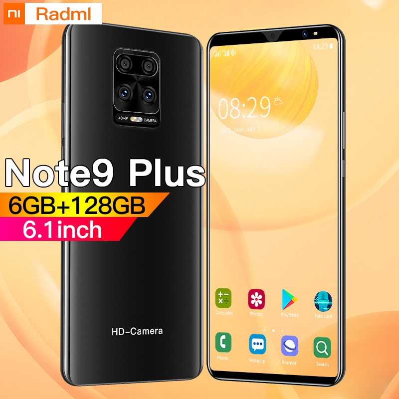 Note9 Plus Smartphone 6.1 inch 4G 5G 8MP+13MP 6GB+128GB 4800mAh Unlocked Mobile Phone Android Telefones Celulares Global Version