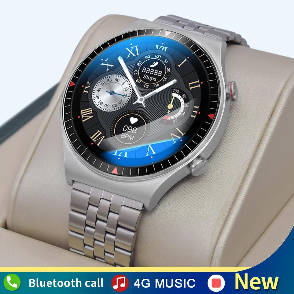 جديد ساعة ذكية الرجال 4G ذاكرة الموسيقى بلوتوث دعوة TWS سماعة كامل اللمس تسجيل T_7 Smartwatch متعددة وضع الرياضة