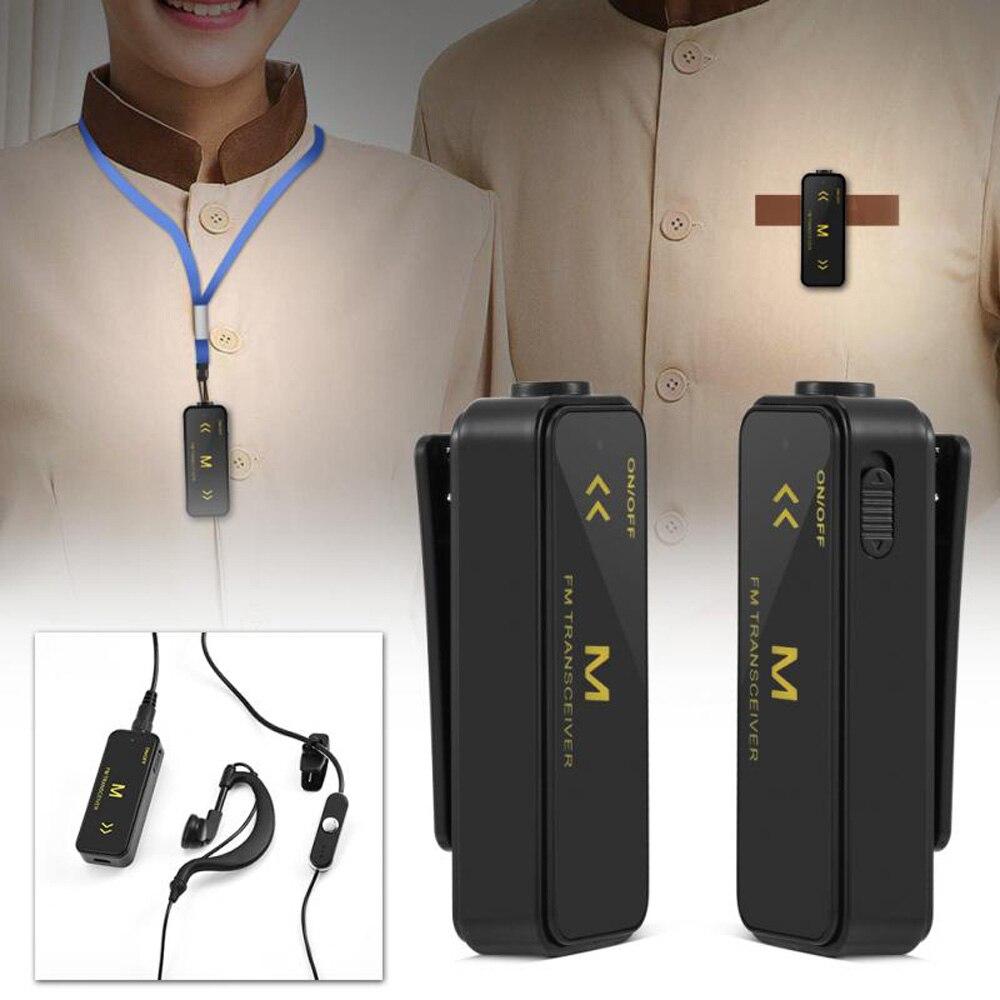 2 pces 400-470 mhz uhf mini 16ch walkie talkie rádio de 2 vias + auriculares + cabos usb para supermercados shopping centers hotel