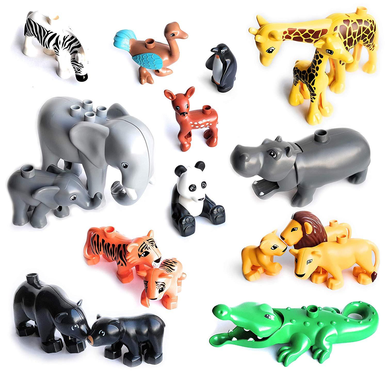 Конструктор «сделай сам» большого размера, аксессуары для животных, фигурки, Лев, панда, совместимы с игрушками большого размера для детей, подарки для детей|Блочные конструкторы| | АлиЭкспресс