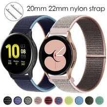 20mm/22mm Nylon strap For Samsung Galaxy Watch 4/Classic/3 45mm/46mm/44mm/active 2/Gear S3 Bracelet Huawei watch GT 2 pro band