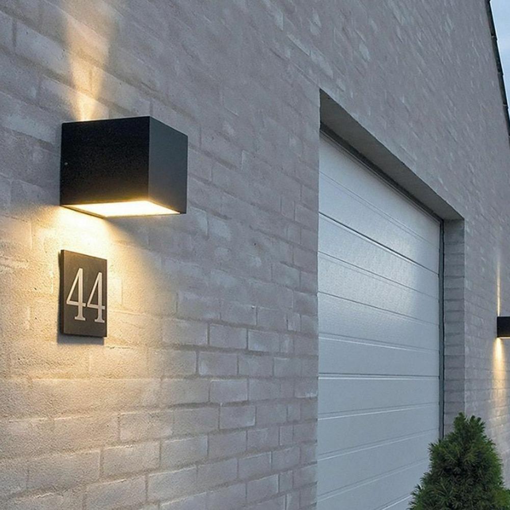 LumiParty 5V 9W Quadratische Form Aluminium Wand Lampe COB Licht BD76 Nicht-dimmbare Wand Licht