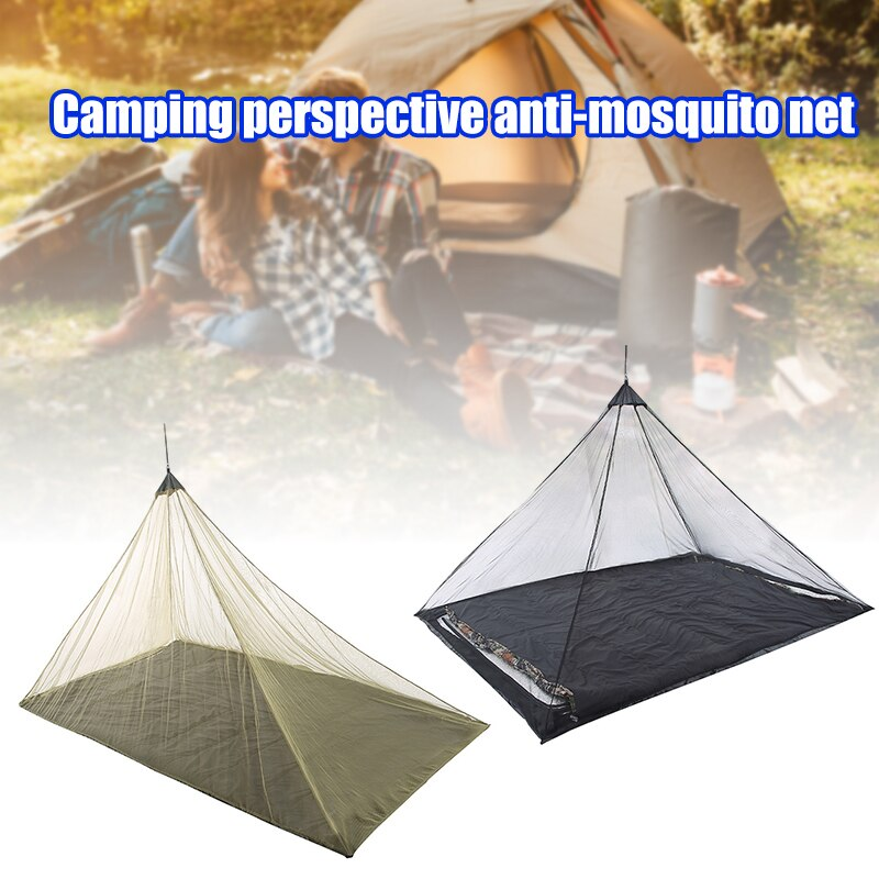 Mosquitera de malla compacta para viajes al aire libre, cubierta de red...