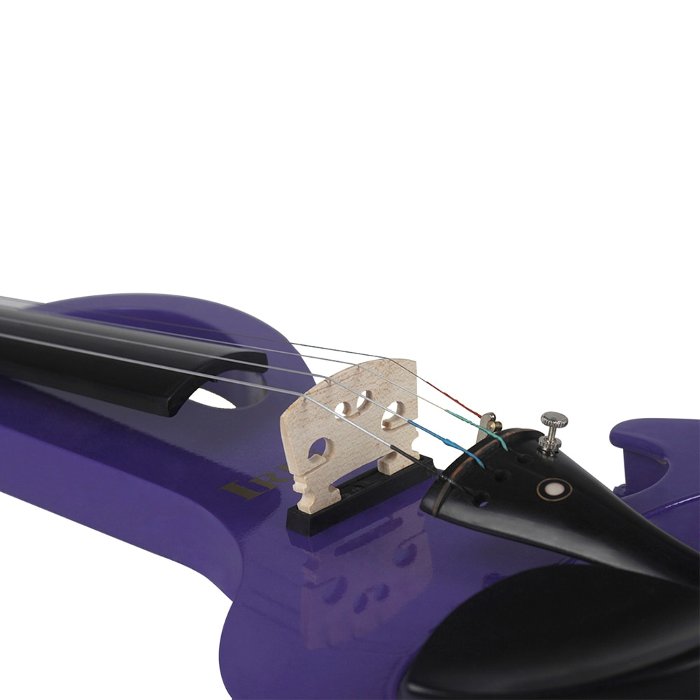 Professional 4/4 Electric Violin Fiddle Stringed Instrument Purple Electric Fiddle With Case Cable Headphone For Music Lovers enlarge