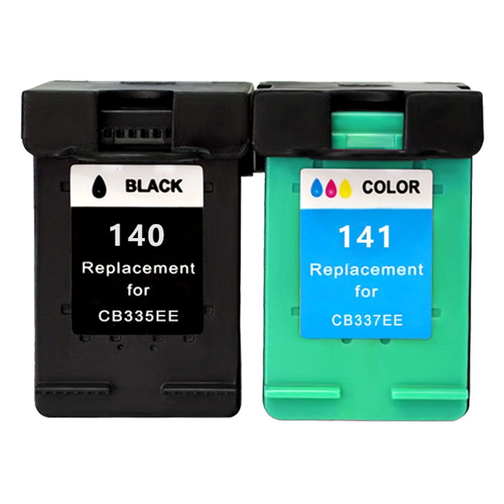 Hisaint for HP 140 141 For HP140 Ink Cartridge CB335EE CB337EE For HP Photosmart C4273 C4283 C4583 C5283 Deskjet D4263 Printer