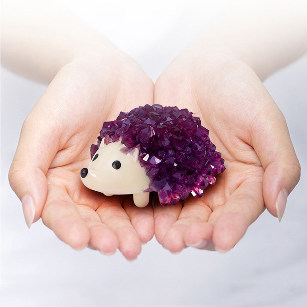Diy observado crescente desejo crescer cristais ouriço mágico crianças kit química mágica experimento brinquedos educativos para o presente das crianças