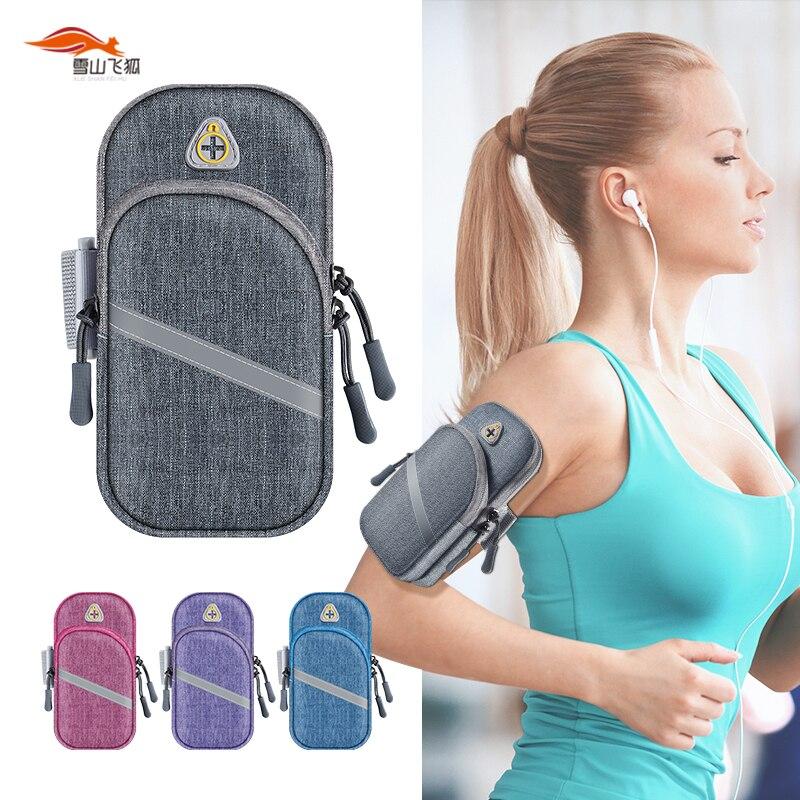 Универсальная Водонепроницаемая спортивная сумка 6,5 дюйма для бега, бега, тренажерного зала, светоотражающая сумка на мобильный телефон, че...