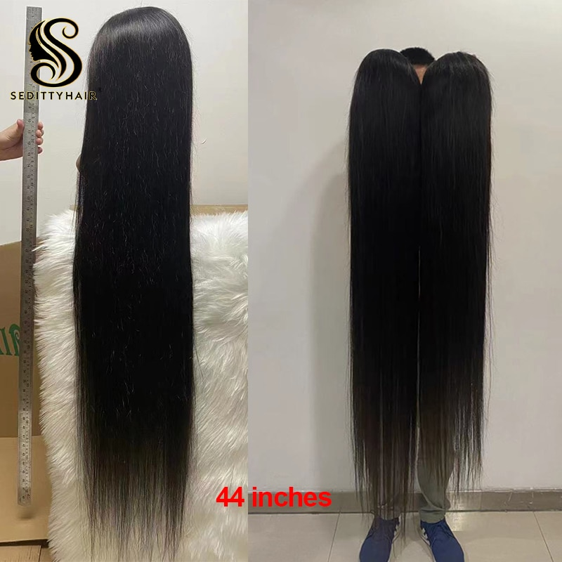 seditty hair Long Straight 34 36 38 40 inch 13x4 Lace Front Human Hair Wigs Brazilian Virgin Remy Hair For Black Women