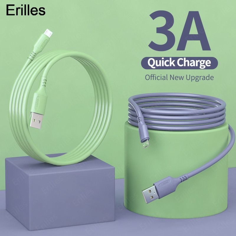 aliexpress.com - Micro USB Cable Fast Charging USB Phone Charger Adapter Data Cables For Samsung Galaxy S8 Xiaomi Liquid Silicone Microusb Cable