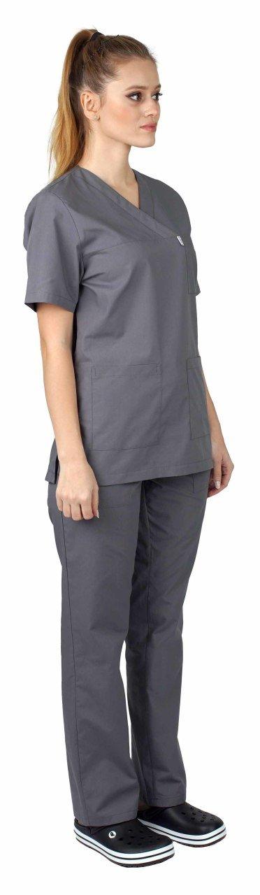 Surgical Jersey Women Smoked Terikoton Fabric surgical forma women khaki green terikoton fabric