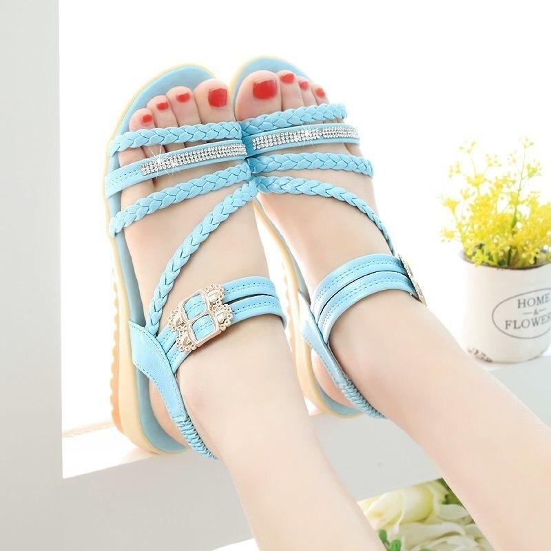 Sapatos de Salto Plano da Menina Sapatos de Praia Sandálias ao ar Sandálias Sapatos Meninas Simples Plana Casual Livre Leves
