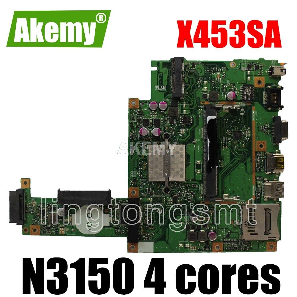 X453sa placa-mãe n3150 4 núcleos para For For For For Asus x453s x453sa x453 computador portátil placa-mãe x453sa mainboard x453sa teste 100% ok