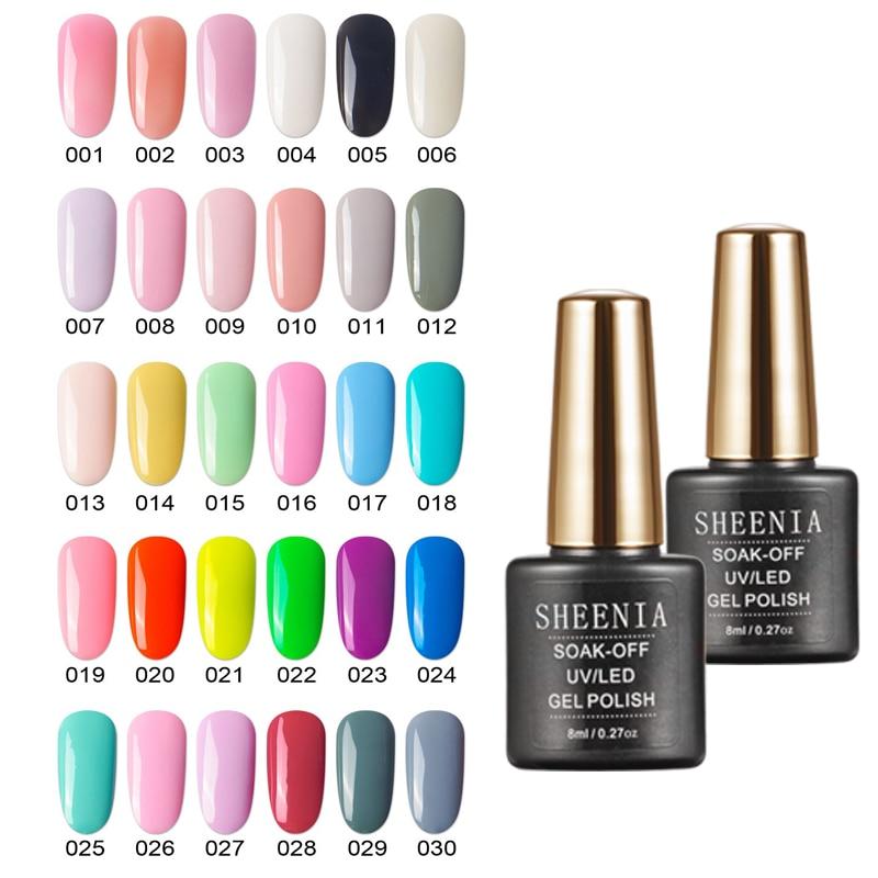 Esmalte de uñas en Gel UV para manicura, barnices híbridos de uñas artísticas, esmalte de uñas semipermanente, 8ML