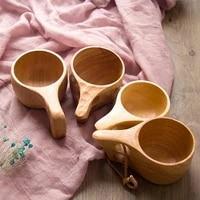 chinese portable wood coffee mug rubber wooden tea drinking mugs drinkware cups water milk gift juice lemon teacup handmade b2b5