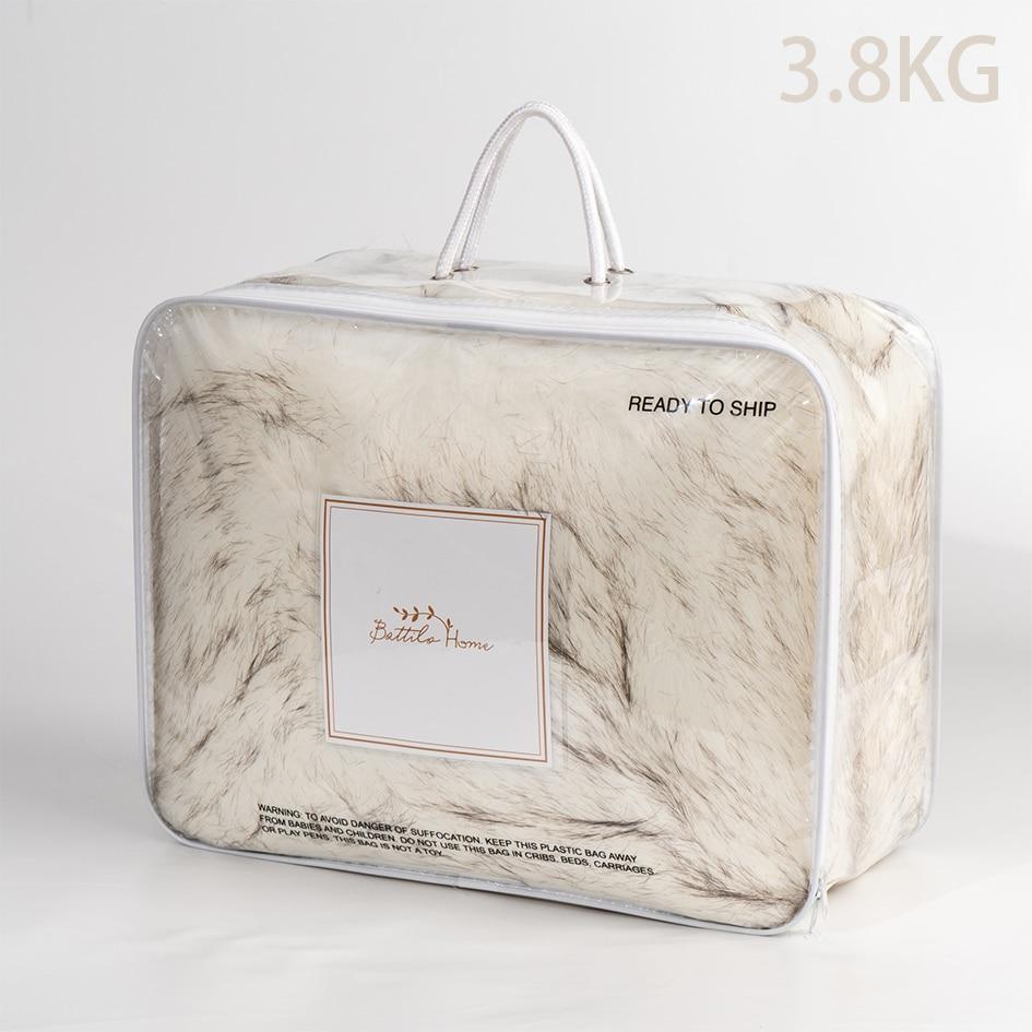 Купить с кэшбэком OLIVE HOME Luxury Home Decorative Fox Faux Fur Bed Sofa Throw Blanket Gift For Family Thicken Fur Blanket 3.8KG