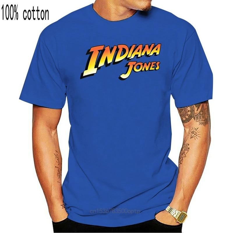 New Indiana Jones Logo T shirt men tshirt women tops tee 100% cotton funny print O-neck Short Sleeve t-shirt