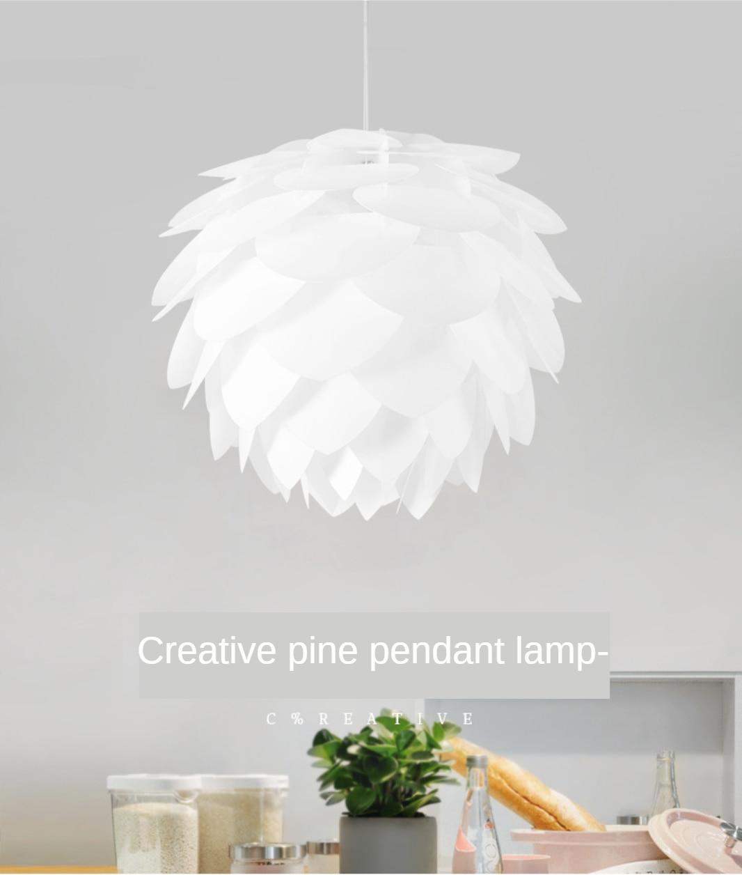 ثريا Led على شكل مخروط الصنوبر ، مصباح متوسطي ، أبيض ، لغرفة المعيشة وغرفة النوم وغرفة الطعام والديكور المنزلي