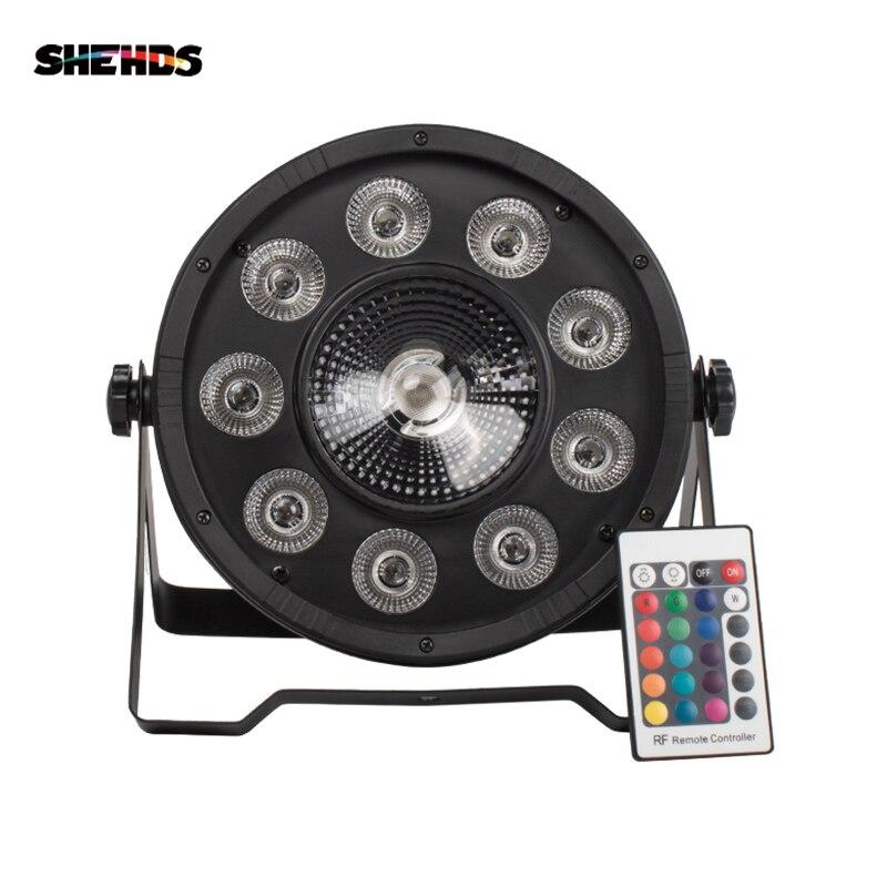 2 piezas de Control remoto inalámbrico LED Par 9x10W + 30W 3IN1 RGB LED etapa luz LED plana SlimPar Tri con DMX512 de DJ