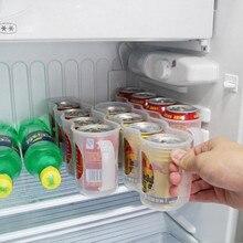 Kitchen refrigerated shelf 4 plastic beer soda cans storage refrigerator storage box space saving LB909142