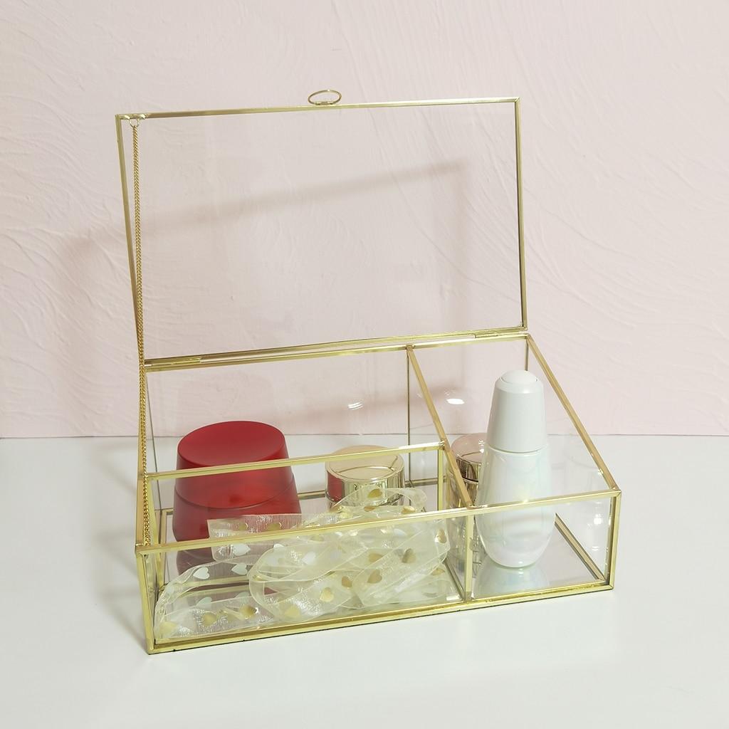صندوق تخزين شفاف ، منظم طاولة ، علبة عرض مجوهرات ، مكياج ، صندوق ترتيب