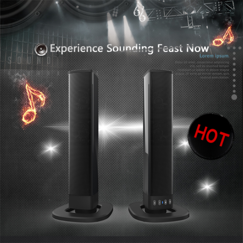 YOUXIU Sound Bar 3D Stereo Sound TV Soundbar with Subwoofer Bluetooth Speaker for PC Computer Phone Speakers Boombox enlarge