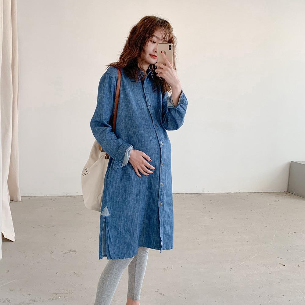 print Maternity Pregnancy Dress summer Short Sleeve Pregnant Nursing Maternity Dress Solid clothes for pregnant women Vestido enlarge