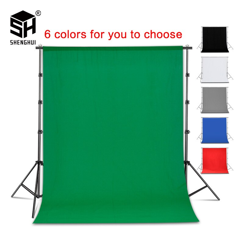 Fondo de fotografía telón de fondo suave muselina algodón pantalla verde Chromakey Cromakey fondo de tela para foto estudio Video