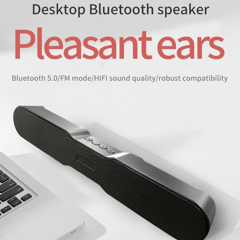 Barra de sonido Bluetooth 5,0, altavoces inalámbricos para cine en casa, estéreo envolvente, 1500Mah, 10W, para TV/PC/teléfono