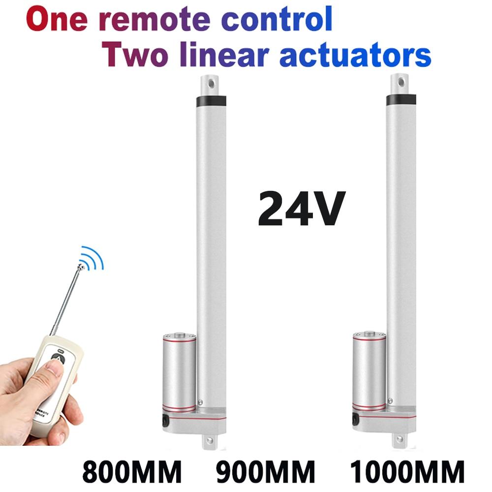1 * جهاز التحكم عن بُعد بالتردادات الرادوية/ اللاسلكية + 2 * المحرك الخطي 24 فولت + امدادات الطاقة 800 مللي متر 900 مللي متر 1000 مللي متر السكتة الدماغ...