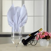 yryie 10pcslot 48cm square polyester fabric cloth white table dinner napkins for wedding parties restaurant kitchen home