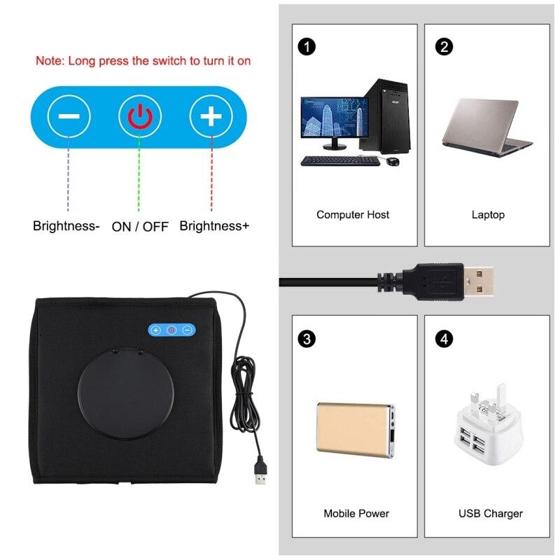 PULUZ 9.7 inch folding light box photo studio soft box desktop shooting light box photo studio LED SLR camera photo background enlarge