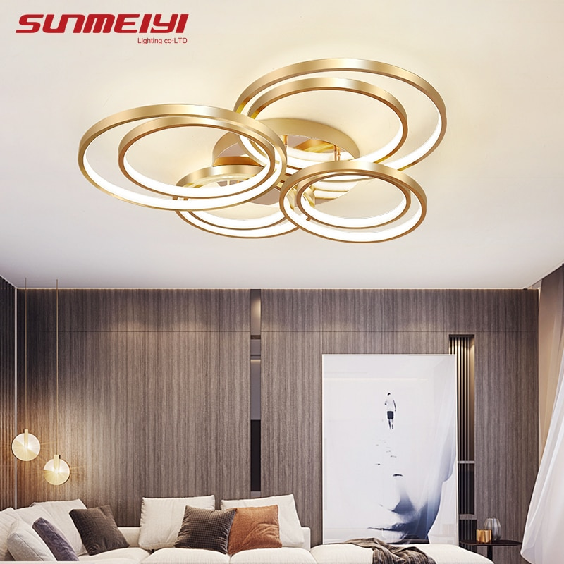 Luxury Ceiling Lights Ring Surface Mounted Modern Led Light With Remote Control Living Room Kitchen Kids Bedroom Lamp Plafonnier Leather Bag