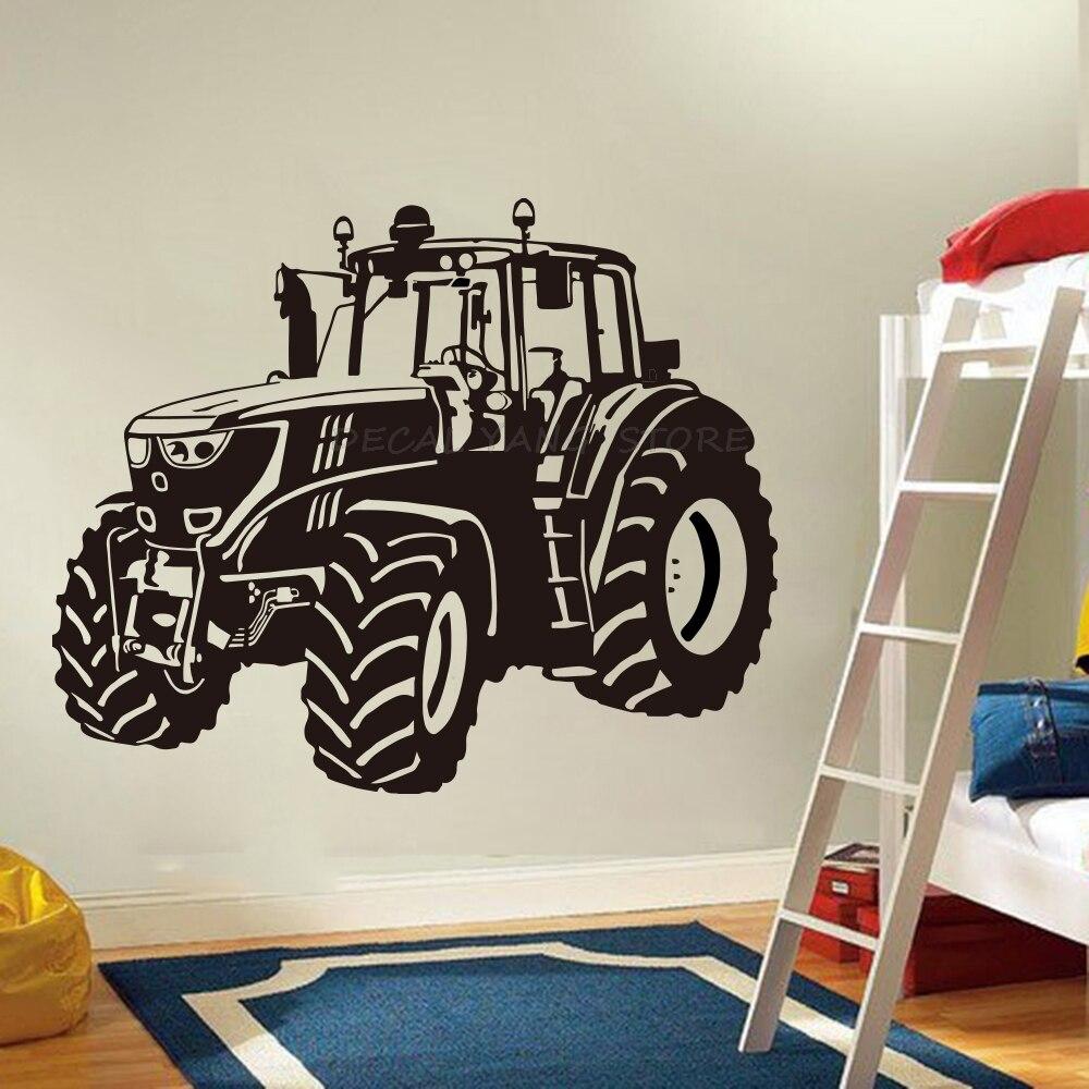 Boys Room Nursery Kids Room Cartoon Tractor Truck Car Vehicle Wall Sticker Bedroom Decoration Vinyl Art Wall Decor 1559