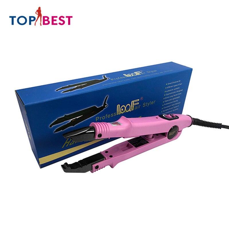 المهنية وصلة شعر صغيرة الحديد الانصهار الحرارة قابل للتعديل درجة الحرارة 210 درجة موصلات الشعر الكيراتين ذوبان أداة التصميم