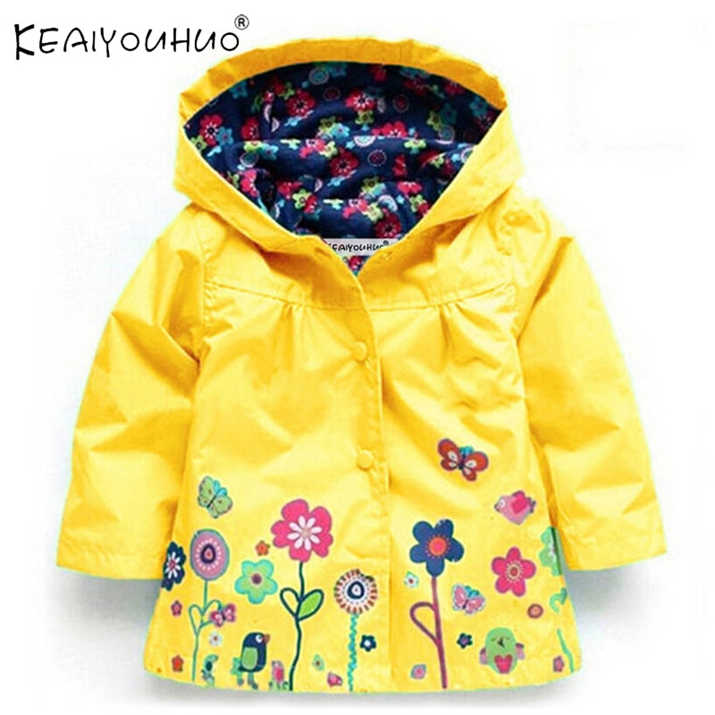 Autumn Waterproof Coat For Girl Baby Trench Coat Kids Baby Girls Jacket Infant Boys Child Fashion Cl