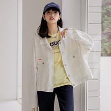 Loose Denim Short Coat For Lady 2021 Autumn New Jean Jacket Women Denim Jackets Solid Color Korean S