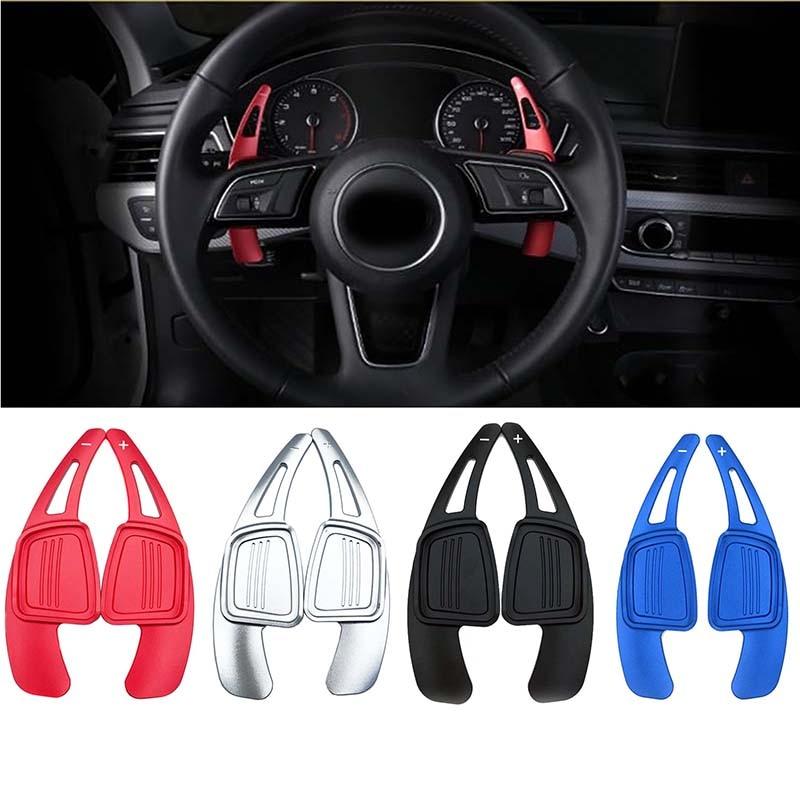 Para audi a3/a4/a5 b9/a6/q7/tt/tts volante shift paddle extensão shifters substituição capa sitcker interior automóvel