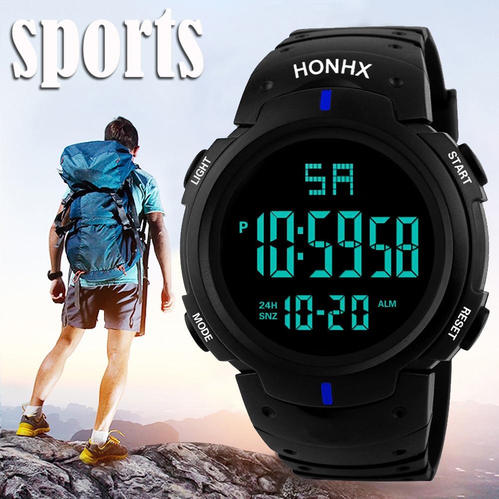 Men Military Watch 50m Waterproof Wristwatch LED Quartz Clock Sport Watch Male relogios masculino Sp