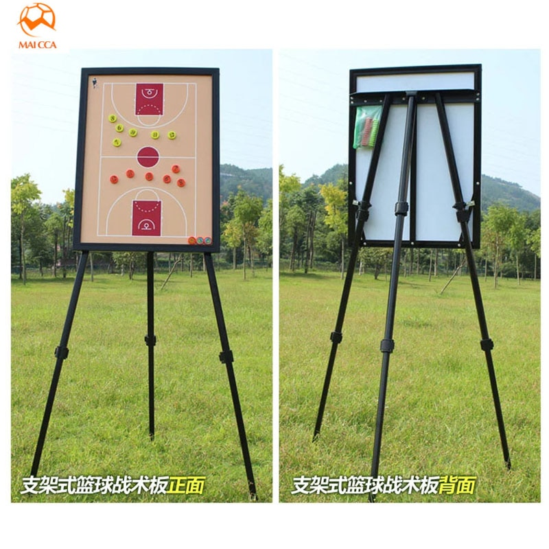 MAICCA Basketball Coaching Board Magnetic Tactical Board with Holder Carry Bag Professional Outdoor Big Basketball Coach Plate