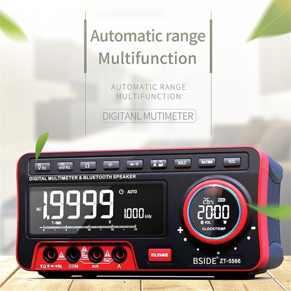 ZT-5566 19999 отсчетов T-RMS Настольный цифровой мультиметр и BT динамик AC/DC измеритель напряжения Авто/ручной диапазон