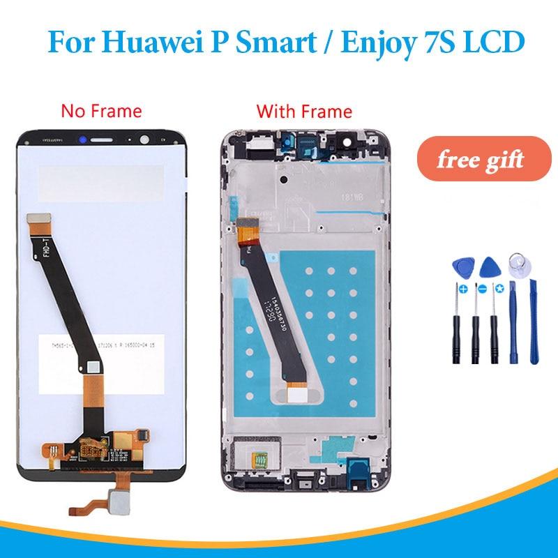 Pantalla lcd OEM para Huawei P Smart FIG-LX1 / FIG-L21 pantalla táctil con marco para Huawei Enjoy 7S digitalizador LCD LX1 LX3