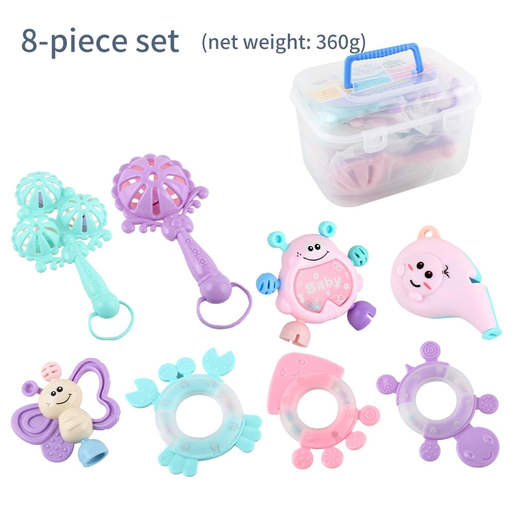 Newborn Baby Toys Rattles Can Bite From 3 to 12 Months Old Babies Grasp 0-1 Years Early Education Cognition Toy
