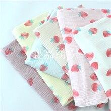 135cm X50cm High Quality Soft Thin Double Crepe Hedgehog Texture Floral Cotton Fabric, Make Shirt, Dress, Underwear, Cloth