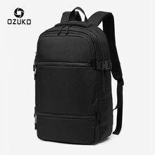 OZUKO Men 15.6 calowy plecak na laptopa duża pojemność wodoodporny plecak na co dzień dla mężczyzn Oxford Outdoor Bagpack mochila nowość